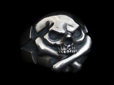 画像2: Cross Bone Skull Ring (2)