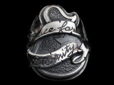 画像1: Guitar with Ribbon Ring (Peace) (1)