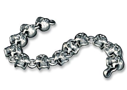 画像1: Angry Skull Bracelet (1)