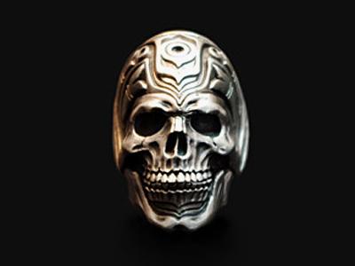 画像1: Haida Skull Ring (1)