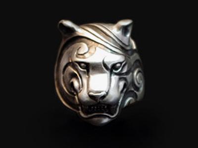 画像1: Engrave Tiger Ring (1)