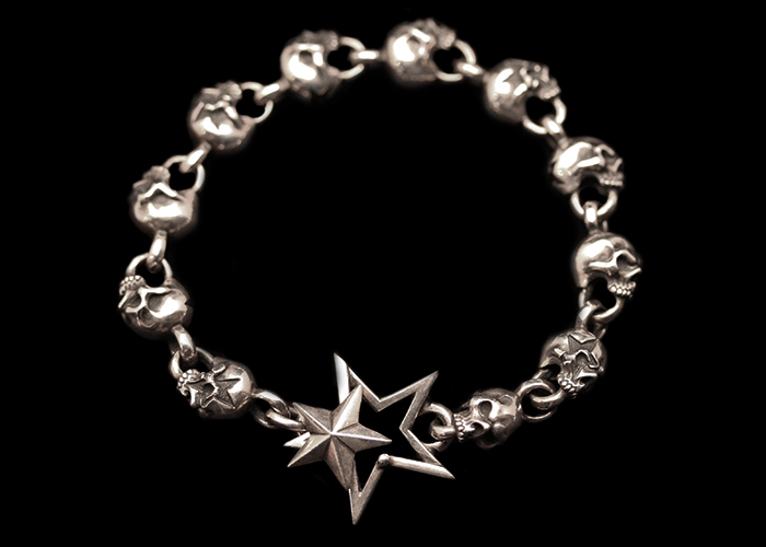 画像1: Clash Star Skull Bracelet (L) (1)