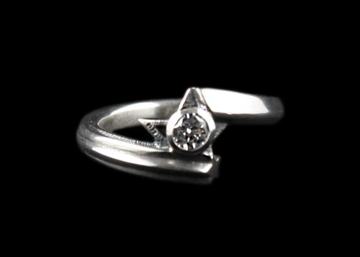 画像1: Shining Star Ring CZ/CL (1)