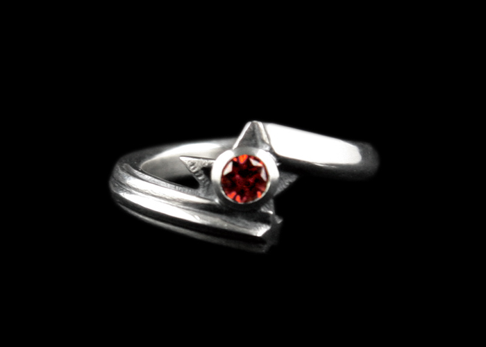 画像1: Shining Star Ring CZ/RED (1)