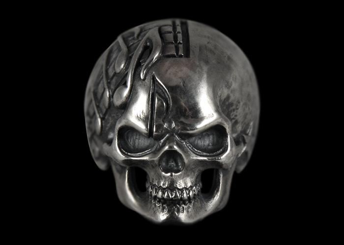 画像1: Music Man Skull Ring (1)