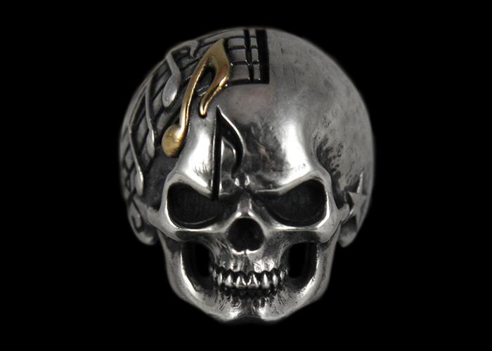 画像1: Music Man Skull Ring (K18) (1)