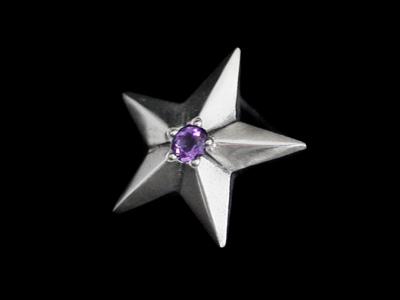 画像1: Shining Star Pierce (Amethyst) (1)