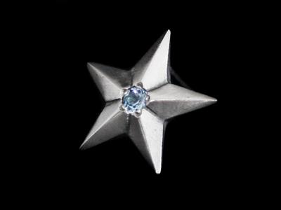 画像1: Shining Star Pierce (Blue Topaz) (1)