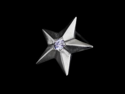 画像1: Shining Star Pierce (Lavender CZ) (1)