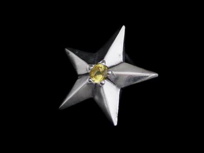 画像1: Shining Star Pierce (Synthetic Yellow Sapphire) (1)